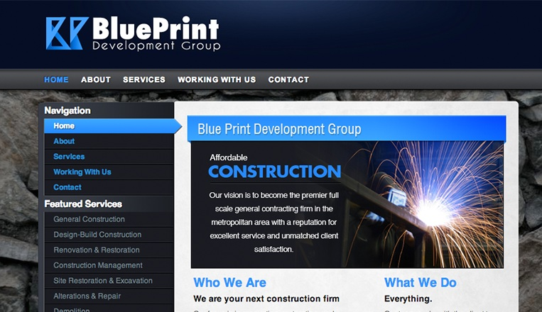 Blueprint development group website beta images design studio blueprint development group website malvernweather Choice Image