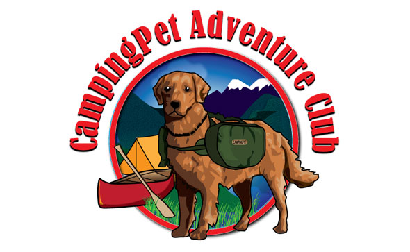 Camping Pet Adventure Club Logo