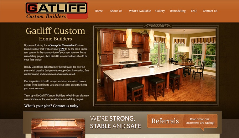 Gatliff Custom Home Builders Website - Beta Images Design Studio