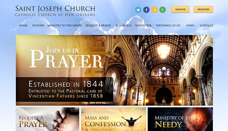 Saint Joseph Catholic Church Website
