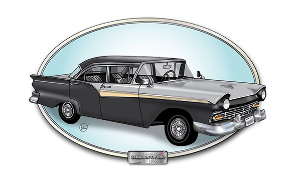 57 Ford Illustration